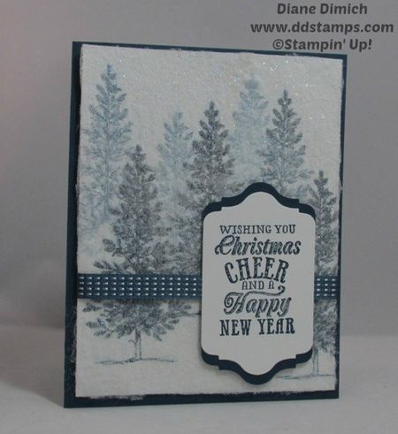 Stampin' Up! Lovely as A Tree and the Dryer Sheet Rubber Stamp Technique
