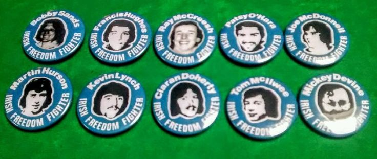 IRISH REPUBLICAN HUNGER STRIKERS TIN BADGES LONG KESH SINN FEIN FREEDOM FIGHTER | Collectables, Memorabilia, Political & Trade Union | eBay!