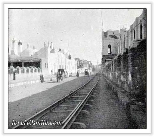 Othman railway station at Madinah in 1870.