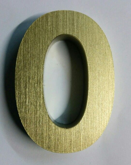 Laser Cut Acrylic letter...PU Coated Hair line BRASS Effect