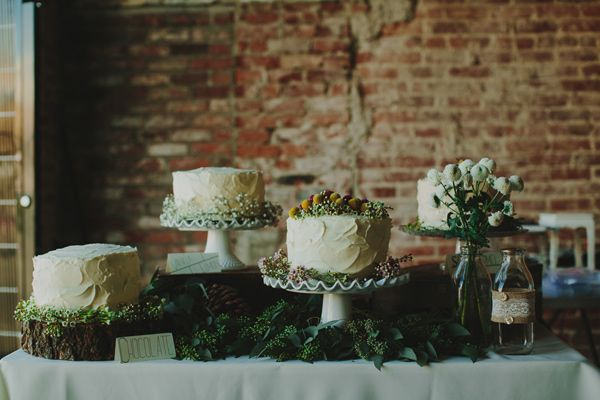 wedding cake tables - photo by Phil Chester http://ruffledblog.com/project-gallery-wedding