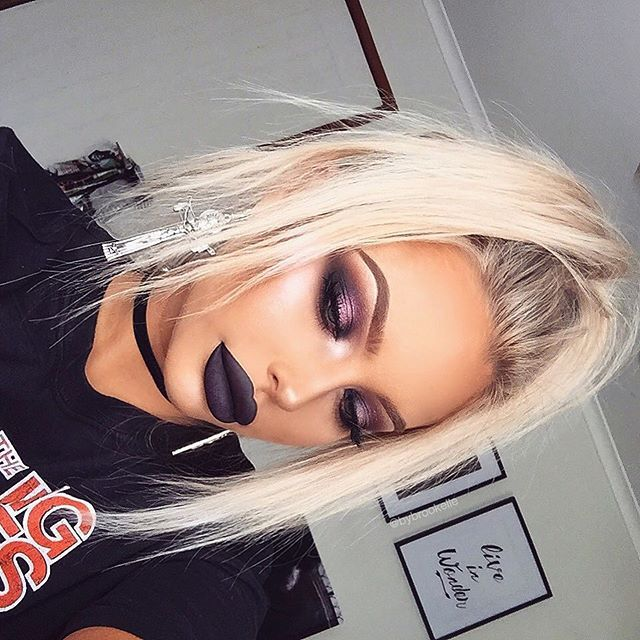 WEBSTA @ bybrookelle - I've been in an uninspired dark hole since Halloween ended  send help! _Wearing @fawnstar_ cross earrings _@anastasiabeverlyhills Midnight Liquid Lipstick@ofracosmetics Bordeaux Liquid Lipstick@anastasiabeverlyhills Foundation Stick in Warm Tan @anastasiabeverlyhills Modern Renaissance Palette @peachesmakeup 'Luxe' Pigment@makeupgeekcosmetics Corrupt Eyeshadow@artistcouture Coco Bling Diamond Glow Powder@anastasiabeverlyhills 'Pink Heart' Moonchild Glow Kit _#art...