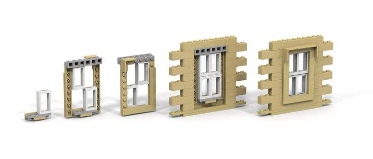 LEGO sash window | Rendered with POV-Ray 3.7 | Yeoh Seng Huat | Flickr