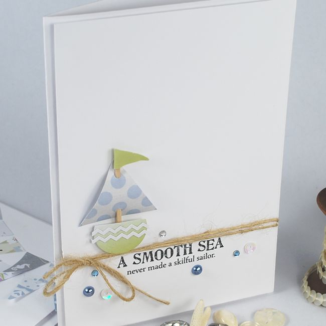 A little paper boat with a sentiment from little 'Pearls of Wisdom' Sentiment Collection.