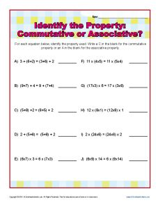 math worksheet : identity property of addition worksheets for 3rd grade  identify  : Addition Property Worksheets