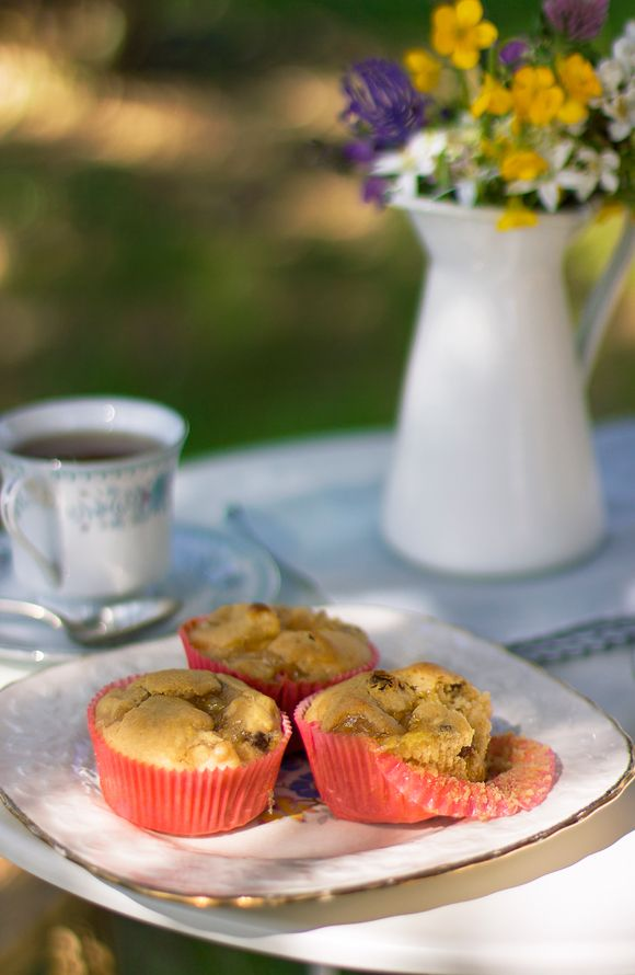 Muffin senza zucchero mela uvetta