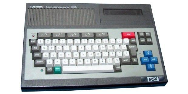 Toshiba HX-10 Einer der ersten außerhalb Japans exportierten MSX-Computer, sonst nichts Besonderes.CPU/Takt: Zilog Z80; 3,6 MHzFarben/Auflösung: 16/256x192Preis: 990 DM