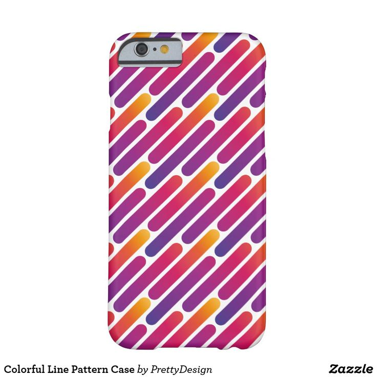 Colorful Line Pattern Case