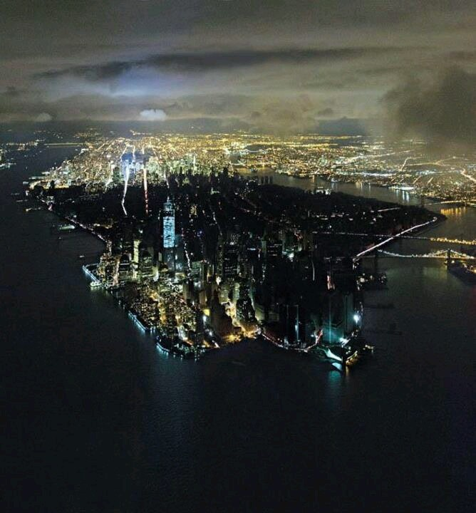New York blackout from above
