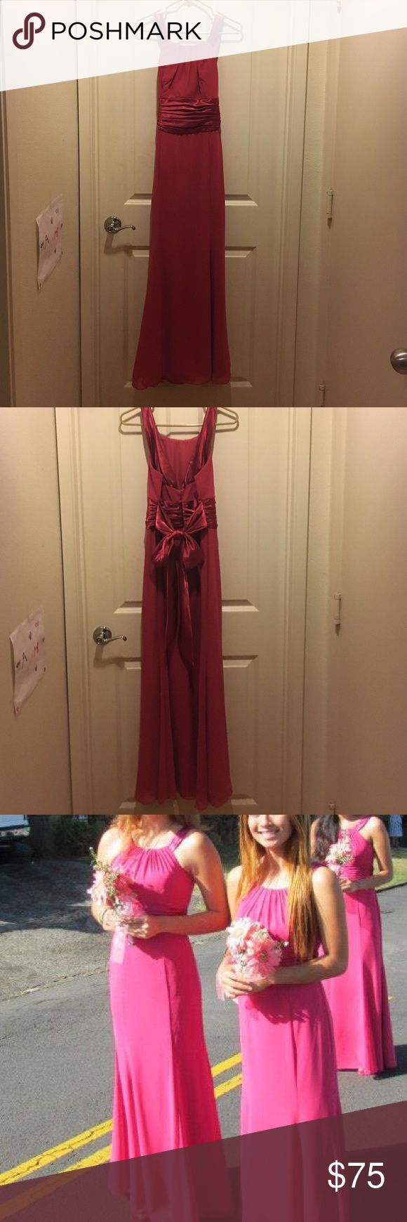 Formal /Bridesmaid / Prom Dress David's Bridal forms gown.  Actual color is called watermelon.  Excellent for prom, or a bridesmaid.  Dress is nearly brand new; was worn just once. David's Bridal Dresses Prom