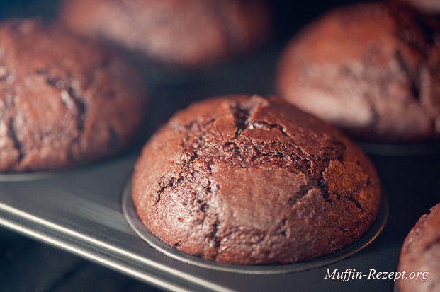 Schokomuffins, Muffinrezept mit Schokolade und knuspriger Kruste, Double Chocolate