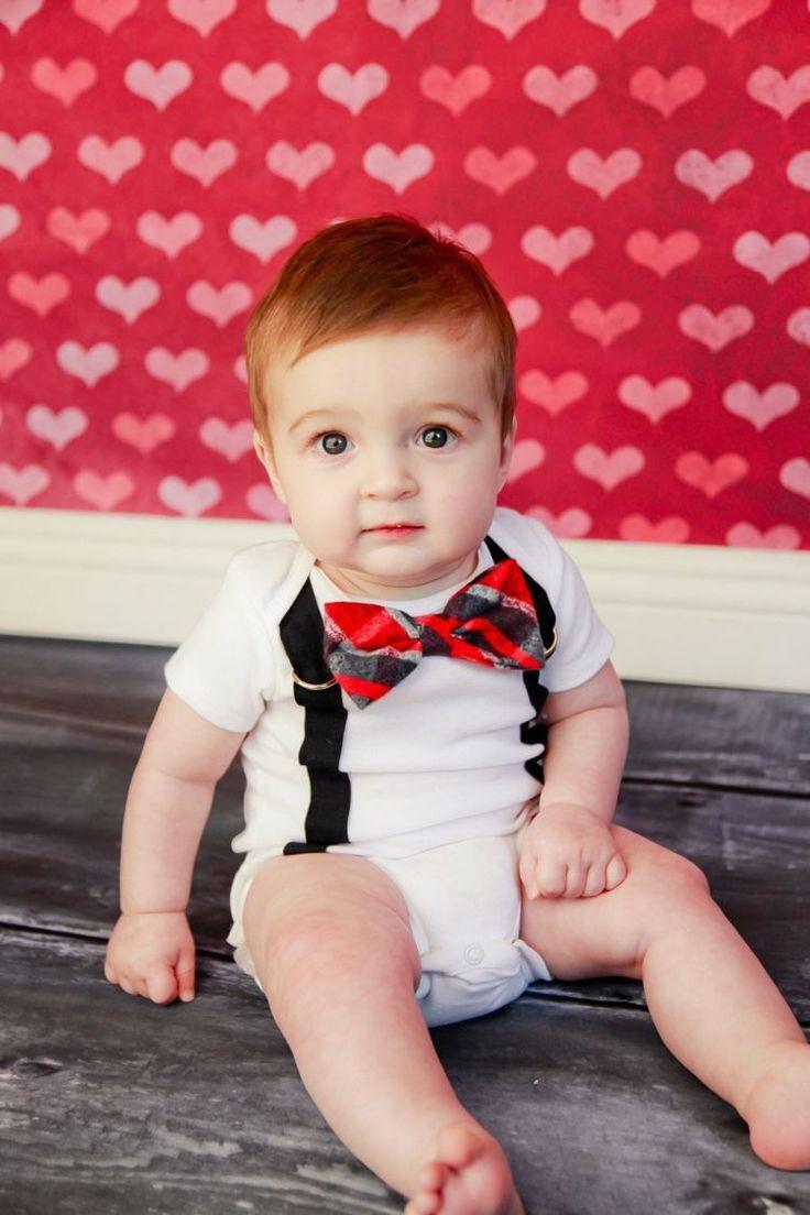 vetements-bebe-garcon-grenouillère-blanche-papillon-rouge vêtements bébé garçon