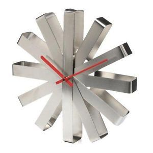 STEEL RIBBON WALL CLOCK