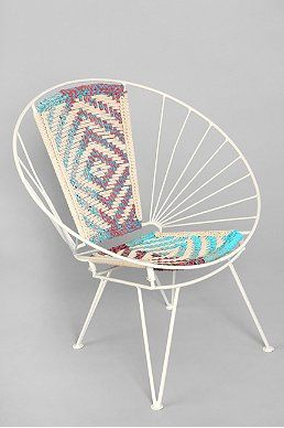 Magical Thinking Woven Wire Chair