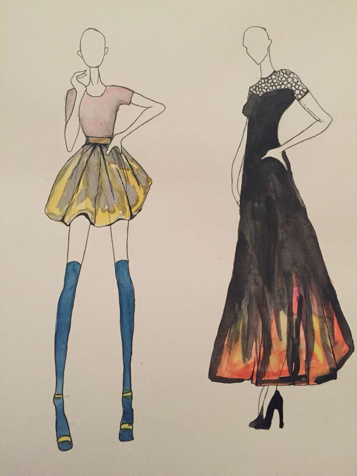 Just a few of my designs # fashion #fashionillustration