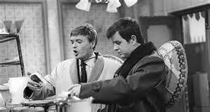 the likely lads  Bob Ferris [Rodney Bewes right] and Terry Collier [James Bolam left]