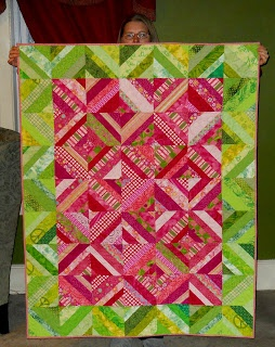 This string quilt reminds me of watermelon!
