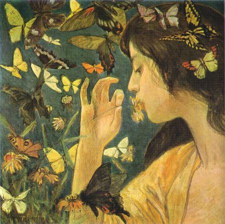 Butterfly  Takeji Fujishima, 1904: Phoebe Anna, Art Nouveau, 1904 Takeji, Arti Things, Fujishima Butterflies, Art Inspiration, Butterflies 1904, 1904Takeji Fujishima, Anna Traquair