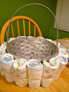 Diaper Basket Tutorial could work. find a way to make this