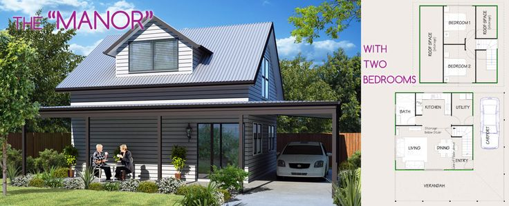 The Manor by Lifestyle Granny Flats is a stylish loft #grannyflatdesign. This is the two bedroom option.