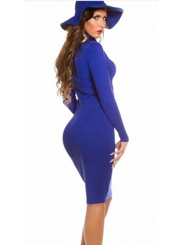 Rochie tricotata mulata albastra Aura