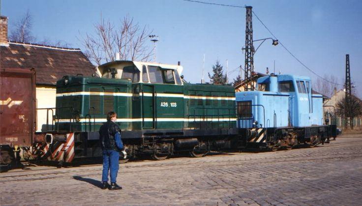 A24 004 és A26 103 Gyõrben a RÁBA Iparvágányán