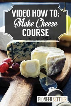 VIDEO How To Make Cheese At Home   Cheese Making Course by Pioneer Settler http://pioneersettler.com/how-to-make-cheese-at-home-cheese-making-course/