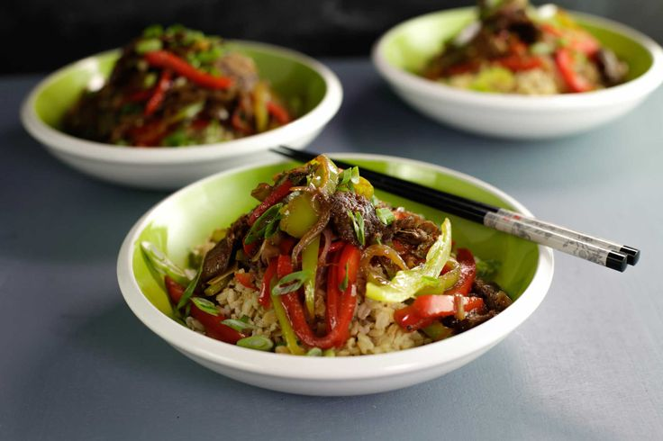 Barbecued Beef and Pepper Stir-Fry.