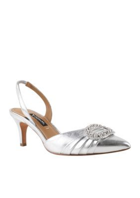 Kay Unger New York Women's Fairleetoo Slingback Pump - Gray - 6.5M