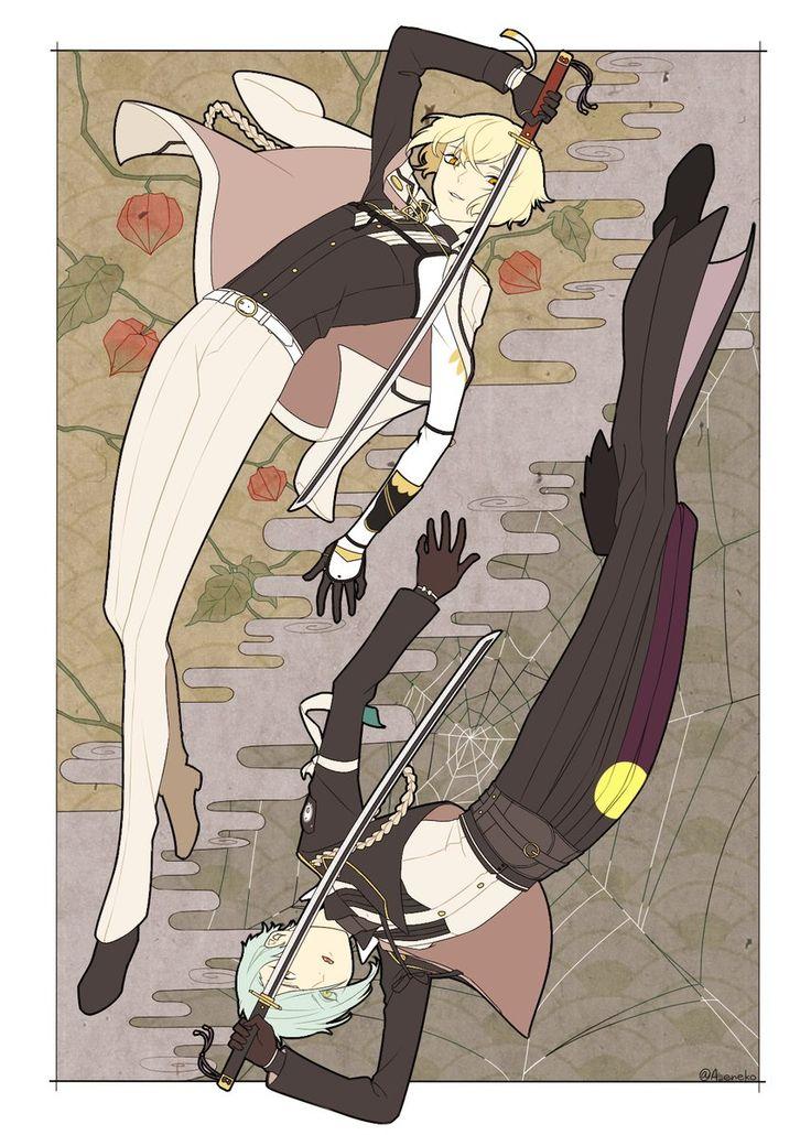 【刀剣乱舞】とある審神の髭切&膝丸イラスト : とうらぶ速報~刀剣乱舞まとめブログ~
