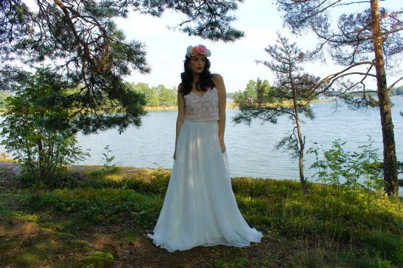 Bohemian wedding dress beach wedding dress by BatelBoutiqueBridal