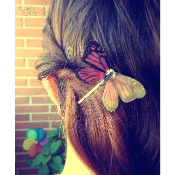 Pink Butterfly hair clip, woodland hair, Monarch Butterfly, butterfly... (20 BRL) ❤ liked on Polyvore featuring accessories, hair accessories, hair, butterflies, hairstyle, bridal hair clips, pink hair clips, bride hair accessories, pink hair pins and butterfly hair accessories