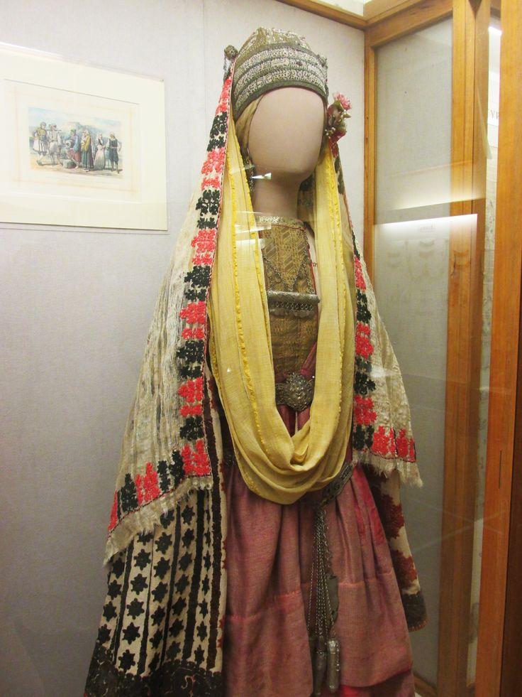 Traditional costume from Αstypalea island, Greece (National-Historical Museum of Αthens)/Γυναικεία νυφική παραδοσιακή φορεσιά απο την Αστυπάλαια (Εθνικό-Ιστορικό Μουσείο)