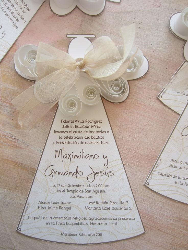 Preciosa invitación en filigrana de papel