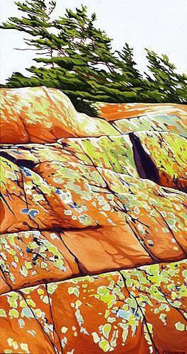 """Lichen North Shore"" by Margarethe Vanderpas"