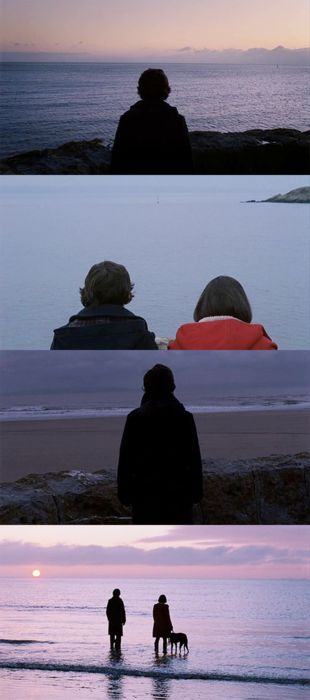 Submarine (2011) -- similar to the effect in The Graduate, this film contrasts the individual in the frame alone vís-a-vís with the love interest; often created by same or similar shot, once alone, again with love interest, a third time alone. (#Isochronism)