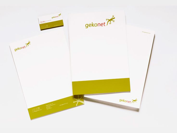 Gekonet corporate identity development and stationery. www.fusiondesign.co.za