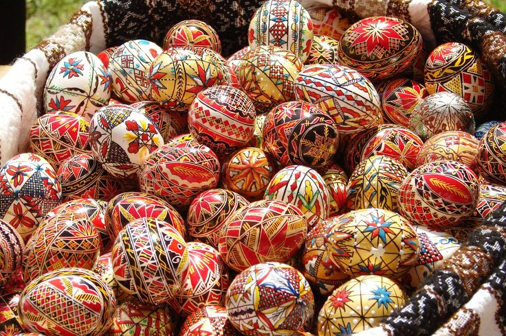 Easter painted eggs. Maramures, last bucolic region in Europe.