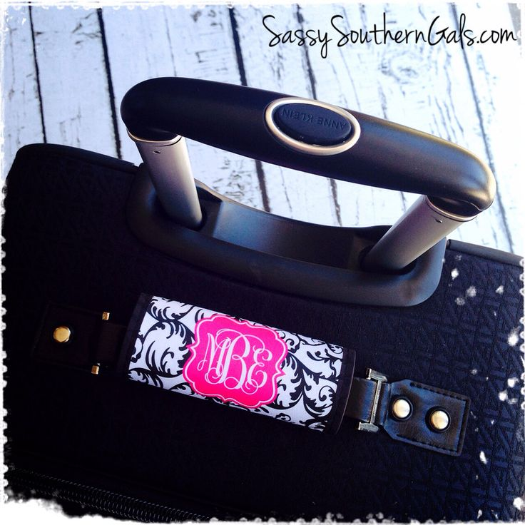 Monogram Luggage Tag, Luggage Tag Personalized, Monogrammed Luggage Tag Handle Wrap, Monogrammed Gift, Design Your Own by SassySouthernGals on Etsy https://www.etsy.com/listing/200208202/monogram-luggage-tag-luggage-tag