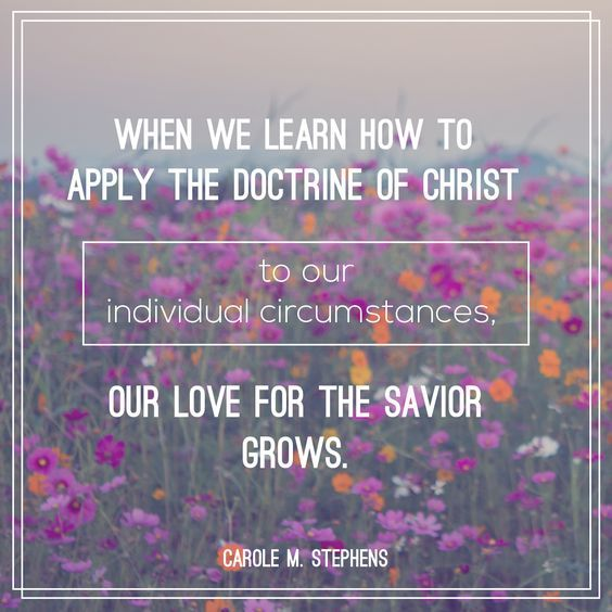 """When we learn how to apply the doctrine of Christ to our individual circumstances, our love for our Savior grows. We realize that He is our foundation—""""the rock of our Redeemer, … a sure foundation … whereon if [we] build [we] cannot fall."""" http://facebook.com/173301249409767 From #SisterStephens' inspiring Oct. 2016 #LDSconf http://facebook.com/223271487682878 message http://lds.org/general-conference/2016/10/the-master-healer #ShareGoodness"""