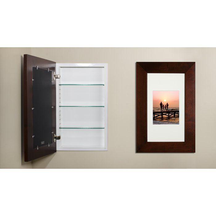 14 W X 24 H Recessed Framed 1 Door Medicine Cabinet With 3 Adjustable Shelves Bathroom Remodel Shower Guest Bathrooms Recessed Medicine Cabinet 14 x 24 recessed medicine cabinet