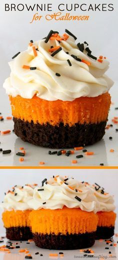 delicious brownie cupcakes. perfect for halloween!