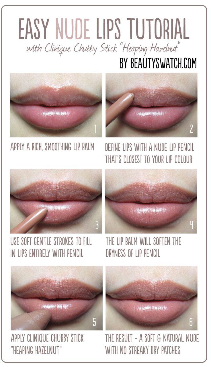 Easy Nude Lips Tutorial Im liking this nude lip look