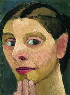 Paula Modersohn-Becker (German 1876–1907) [German Expressionism] Self-portrait with Hand on Chin, 1906.