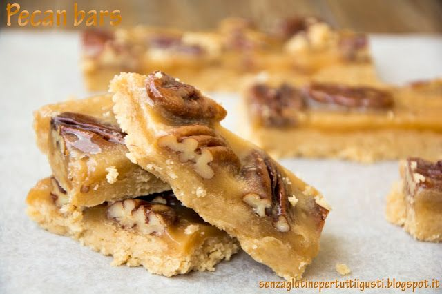 Senza glutine...per tutti i gusti!: Pecan bars senza glutine di Martha Stewart