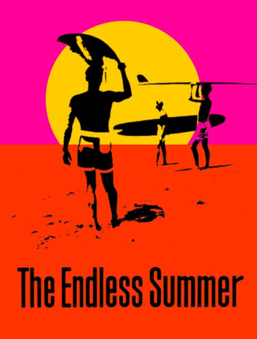 If you were a guy growing up in Southern California in the 60's this poster was probably on your wall.  Two carefree guys traveling the world looking for the perfect wave in one long Endless Summer.  More of a metaphor to me now but still an iconic image.