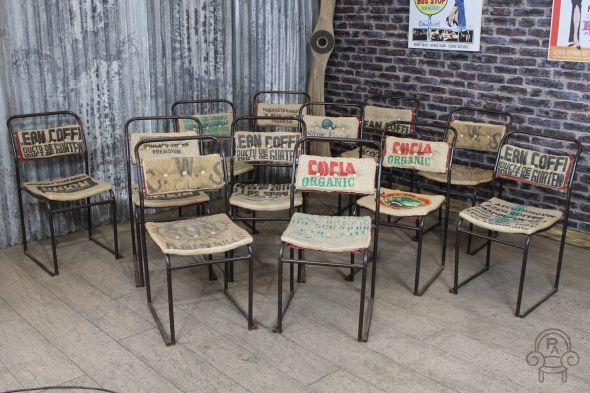 SC337 hessian sack cafe chair001