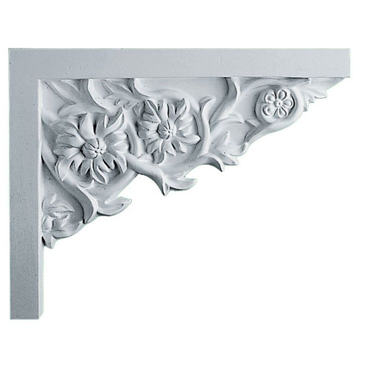 Floral Small - Urethane Stair Bracket Right - #SB09X07FL-R