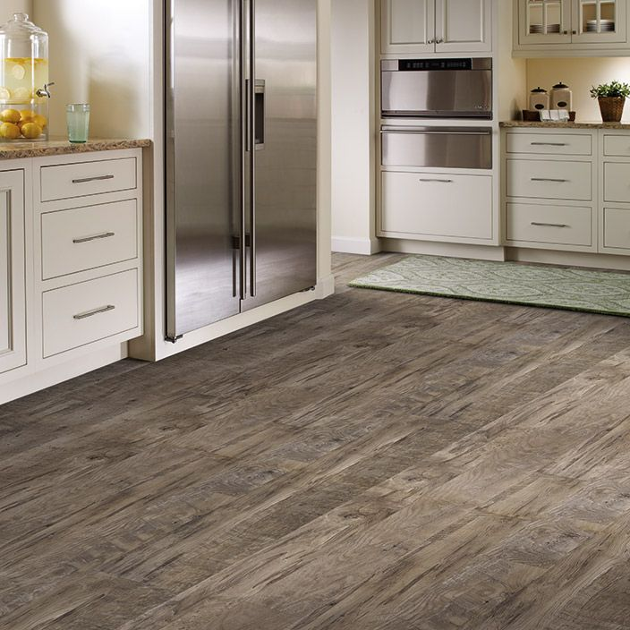 Grey Brown Wood Vinyl Floors For Kitchen Modern Rustic