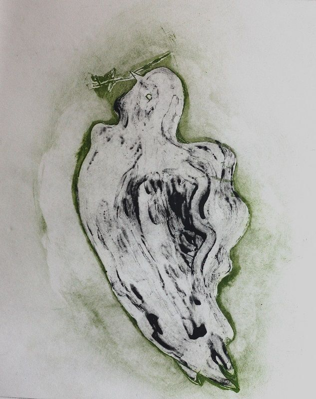 Rushka Gray's ghost in green double plate etching